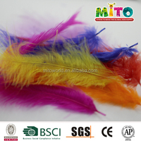Assorted colors turkey feather for party decoration