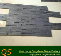 classic black slate stacked decorative wall cladding landscape building wall stone panels