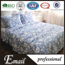 Hot selling printed floral microfiber quilt sets/bedding set/bedspread