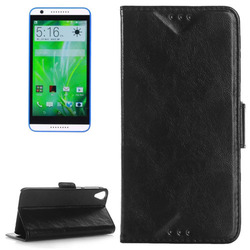 Oil Skin Texture Flip Leather Smart Phone Case Cover for HTC Desire 820