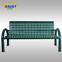 China manufacturing modern outdoor cast iron garden bench with backrest