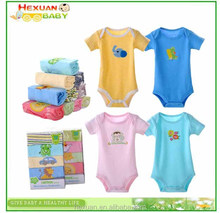 DAROL baby short-sleeve bodysuits for 3-24M baby boy/girl, 5 pcs/lot infant cotton bodysuit, healthy and soft material