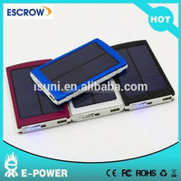 cheap portable mobile battery charger slim solar power bank 10000mah