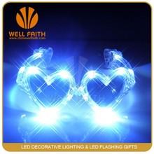 Heart shaped White Heart Shaped Sunglasses for Holiday Decoration,Holiday Flashing Led Heart Sunglasses