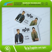fullcolor cheap plastic gift card printing