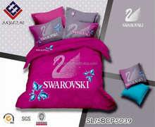 2015 luxury european diamond swan cotton duvet cover/ linen bedding/bedding set