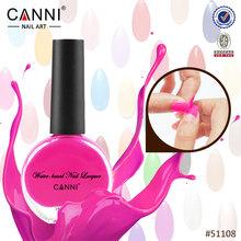 #51108C CANNI New Arrival Peel off Nail Polish Easy off Water based Gel Effect Nail Polish Healthy Islamic Nail Polish