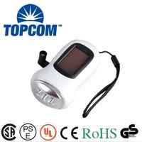 TP-PH005 Best Price 3 LED Hand Crank Solar Rechargeables Flashlight Price