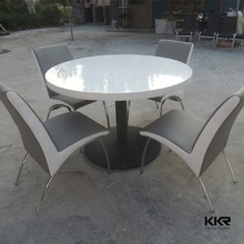 120cm stone top round resaurant dining table