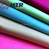 Colorful 65 Polyester 35 Cotton Plain single jersey fabric