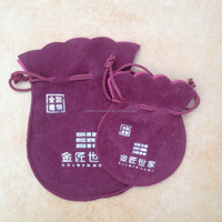 Custom nice small velvet ring/necklace bags pouches,round velvet jewelry pouch bags