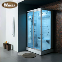 Indoor home freestanding control panel steam shower room price for sale