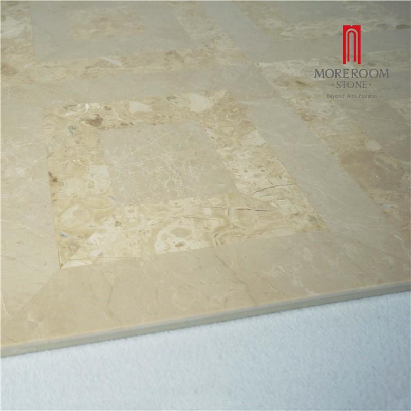 Moreroom Stone Yunfu Factory Iran Beige Marble Stone Tiles Marble Wall Design Marble Floor Design Pictures Floor Medallion Water Jet Marble Tiles 04.jpg