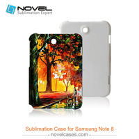 Sublimation Plastic Phone Case for samsung note 8 , 3D Customized Phone Cover