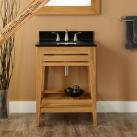 Floor stand oak solid wooden imported bathroom furniture from china