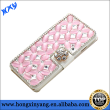Leather Sparkle Bling Diamond Wallet Flip Magnetic Case Cover For Apple iPhone 6