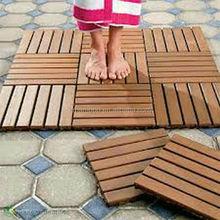 Outdoor Strand Woven Bamboo Decking Tile Unit Carbonized Color-KE-OS0825