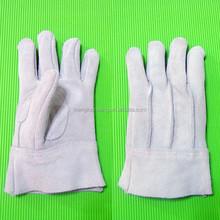 Chrome leather safety gloves for welder