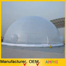 Popular best quality inflatable tent/inflatable half transparent bubble tent
