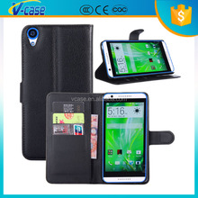 Multifunctional colorful leather wallet case cover for htc desire 820