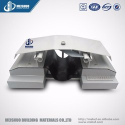 Architectural waterproof ceiling expansion joint with aluminum covers