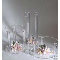 clear acrylic wedding flower display stand