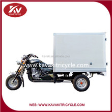 Chinese motorized cargo tricycle for sale/200cc air cooling with closed carriage