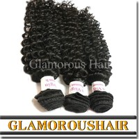 Factory Virgin Jerry Curl Weave Extensions Human Hair Remy Hair Weave Beautiful Brazilian Curly Hair