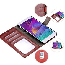 Luxury Leather Cover for Samsung Galaxy Note4 IV N910 Wallet Stand +Photo Card Holder Flip Cases Note 4