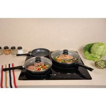 High quality Nonstick Ceramic pressed frying pan Frypan milk pot with glass lid