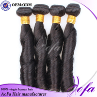 2015 top quality new style wholesale natural vrigin spring curl remy hair
