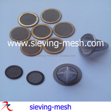 Metal edge packed filter mesh strainers, metal filter discs, metal round filter packs