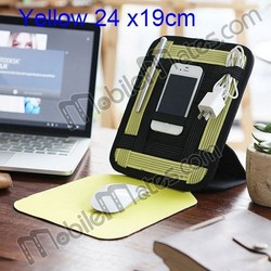 24x19cm Rubber Mouse Pad Mouse Mat Cocoon Grid-IT Travel Organizer Storage Bag For Earphone USB Cable Charger Mobile Phone