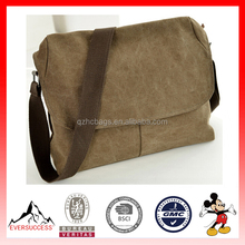 Hot Sell Vintage Canvas Messenger Bag School Military Shoulder Leather Bags (ESX-LB093)