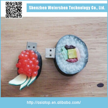 Festival gifts Sushi shape PVC Cool Usb Flash Drive For Sale/usb Flash Disk