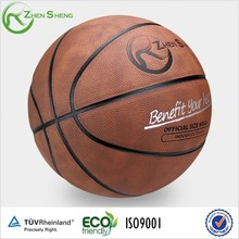 Zhensheng sport match oem leather basketball