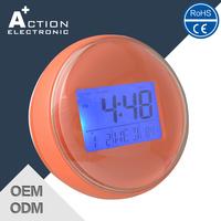 2015 New Design Suction Bathroom Waterproof Digital Alarm Clock For Sale