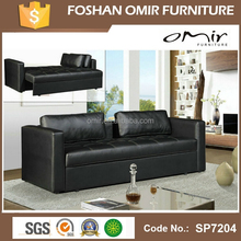 Pull out sofa bed Black PU Leather