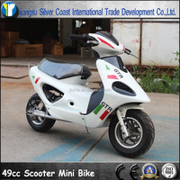 49CC White Scooter with Pull start for Child Use