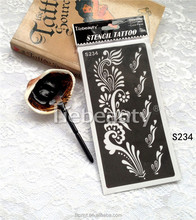 2015 Tiebeauty online wholesale discount tattoo stencil/Promotion reusable pvc tattoo stencil