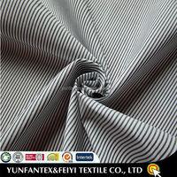 2015 latest fashion cotton white blue poplin stripe fabric for men shirt