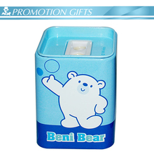Hot saling cosmetic tin box pencil sharpener as promotional gifts