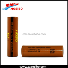 18650 Subox Mini rechargeable battery aosibo imr 60amp 18650 2600mah with best quality