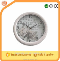 """12"""" Retro and romatic metal wall clock for wedding gift"""