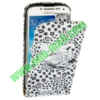 Leopard Pattern Vertical Leather Flip Case for Samsung Galaxy S4 mini i9190