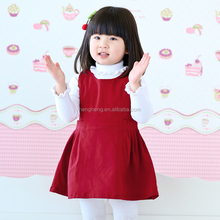 80216 old fashion style children dress new dress red baby dress