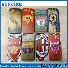 Cell phone case for mobile phone accessory, football club case for iPhone 4/4s, football club genuine leather case for iphone 4