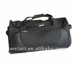 China manufacturers foldable nylon trolley luggage travel bags