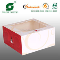 2014 WHOLESALE DURABLE ECO-FRIENDLY GIFT BOXES WITH INSERT WINDOW