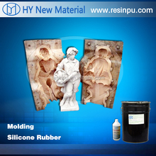 Two components liquid silicone rubber for cement/plaster mold making